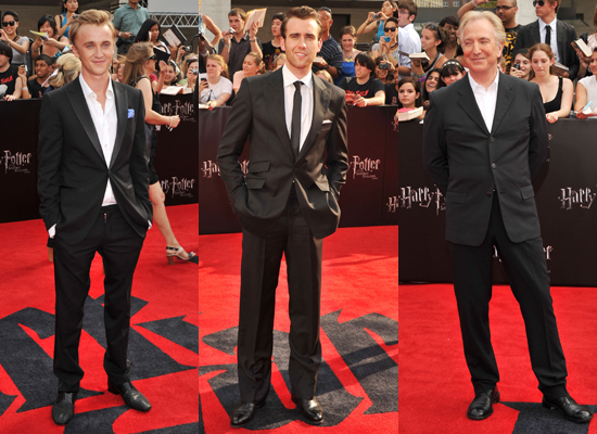 Pictures of Tom Felton, Matthew Lewis, Alan Rickman at Harry Potter and the Deathly Hallows New York Premiere