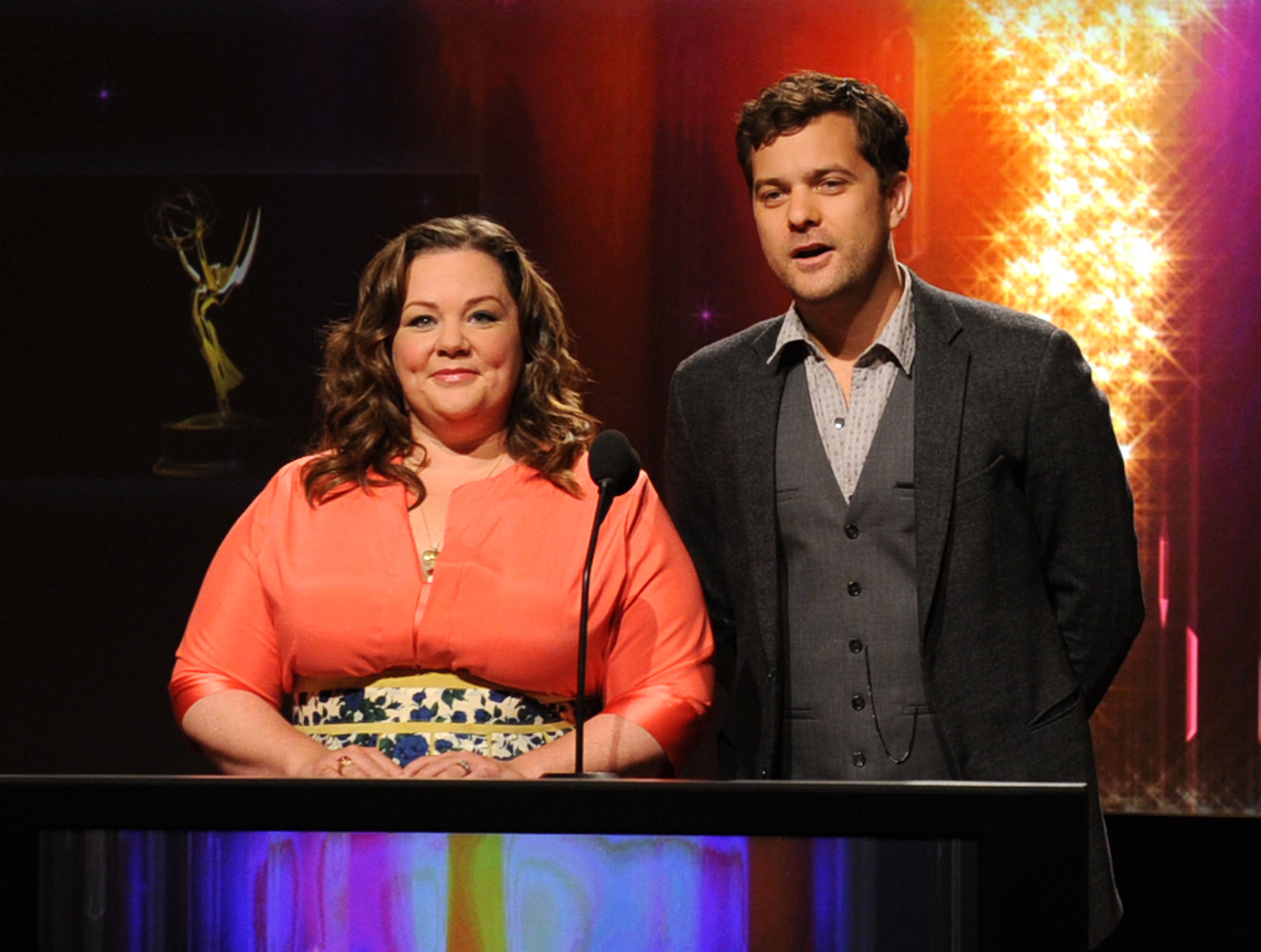 Joshua Jackson and Melissa McCarthy announce Emmy noms.