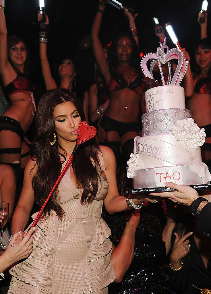 Kim Kardashian was gifted a bachelorette cake from Tao.