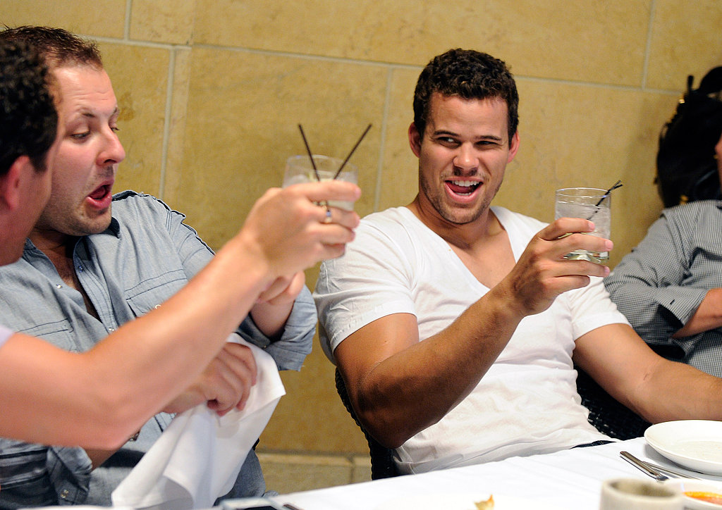 Kris Humphries partied with his friends.
