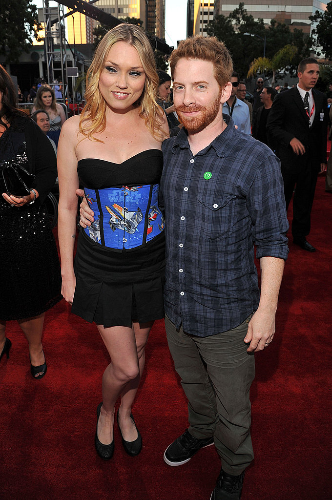 clare grant and seth green were thrilled to be at the
