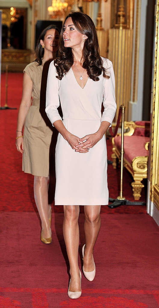 Kate Middleton at Buckingham Palace.