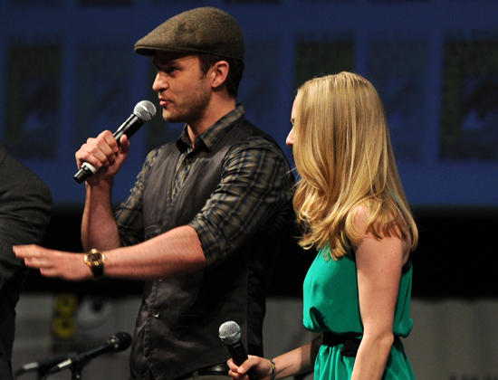 Guess Which Actress Joined Justin Timberlake For a Comic-Con Panel