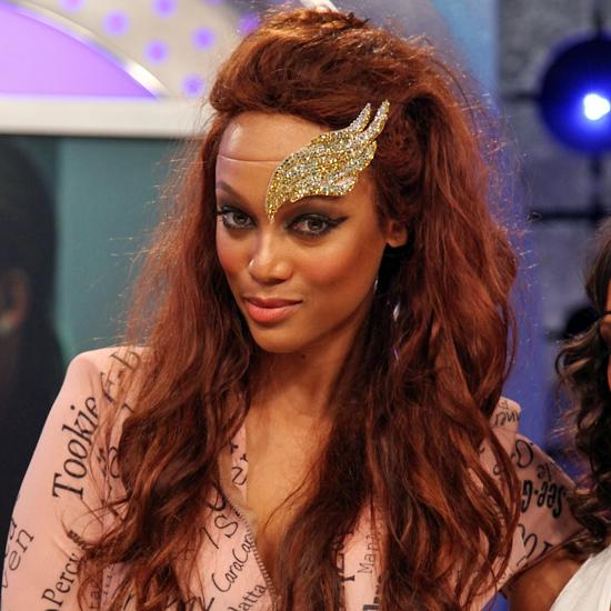 Tyra Banks Wears Angel Wing Headpiece