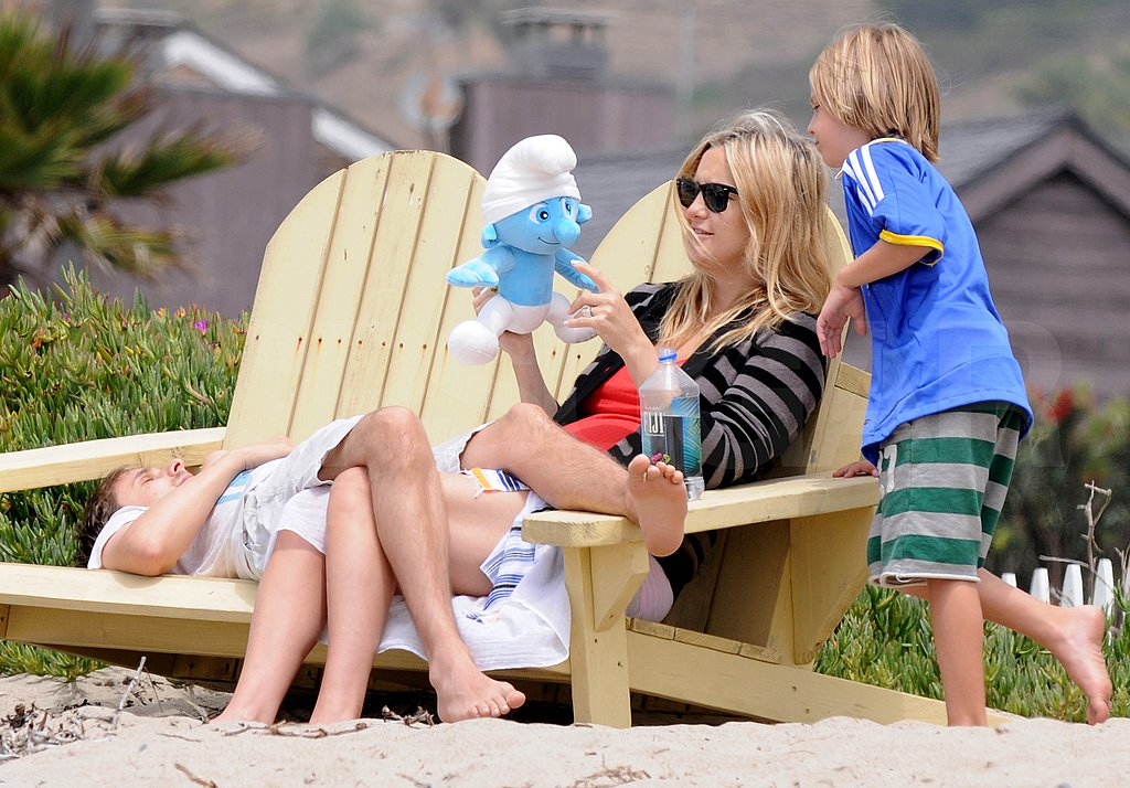 Kate Hudson Hits the Beach With Ryder and a Tired-Looking Matthew Bellamy