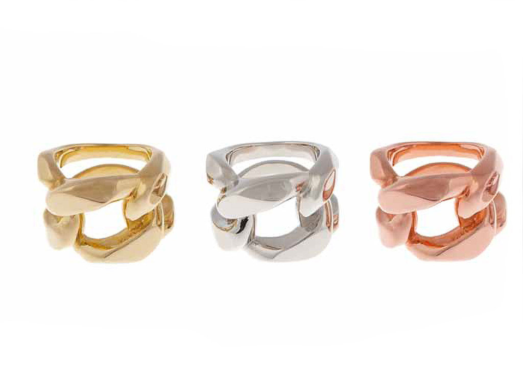 Goldtone, Silvertone, or Rose Gold Tone Link Ring: $55 each