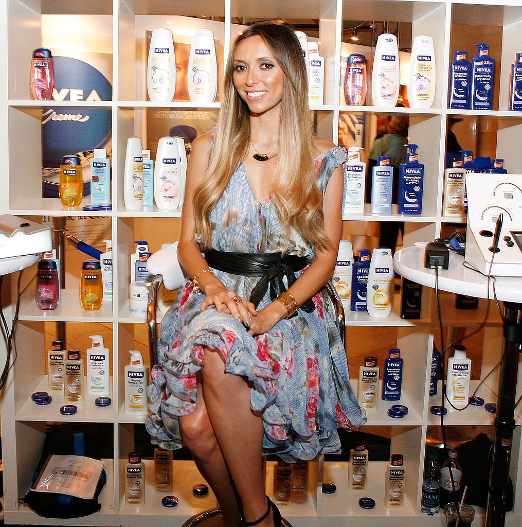 """Giuliana Rancic used Nivea products as a child in Italy and also worked with the brand on 2010's New Year's Eve. She said, """"I can always look back to an emotional moment in my life that relates to Nivea."""""""