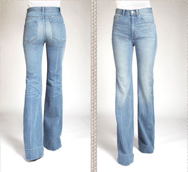 '70s Flare Jean in San Francisco Wash, $228