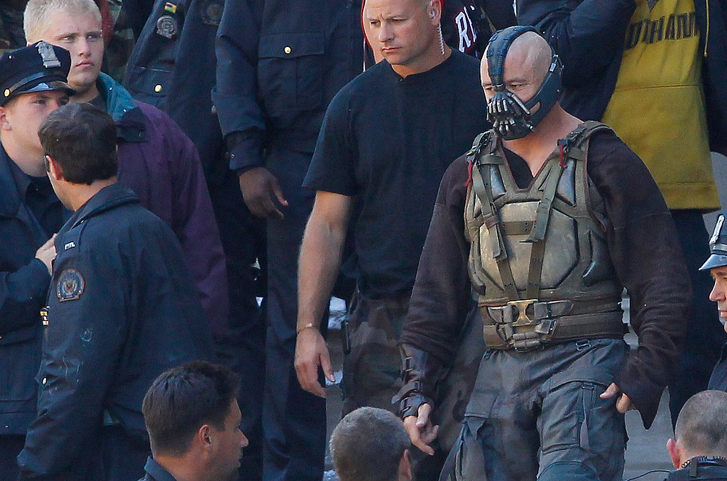 Tom Hardy as Bane in The Dark Knight Rises.