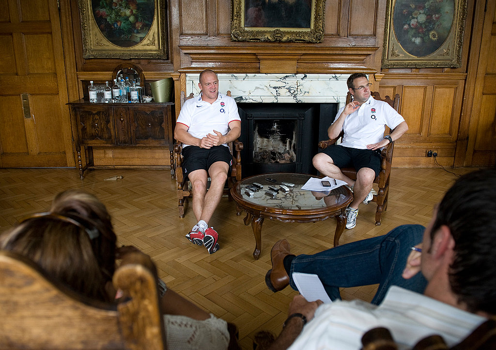 Mike Tindall takes question on rugby.