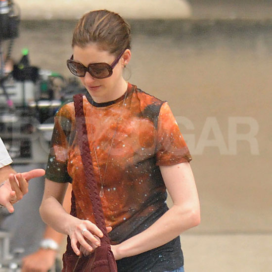 Anne Hathaway Pictures on Set of The Dark Knight Rises