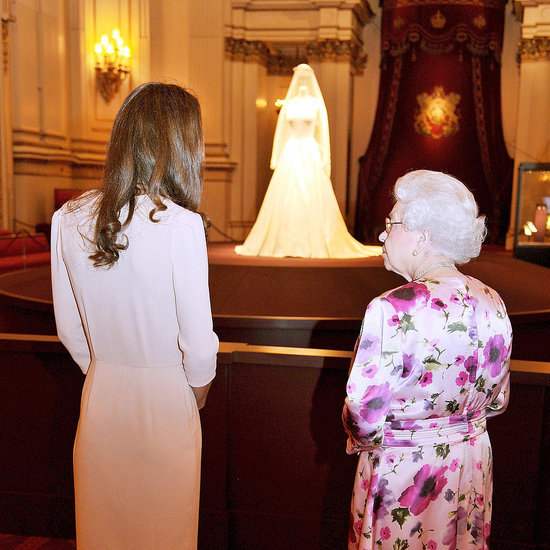 Kate Middleton's Wedding Dress Display at Buckingham Palace