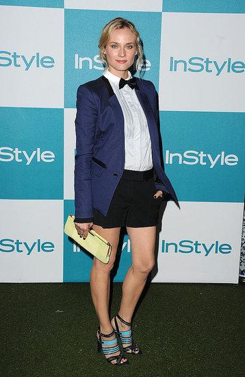 Diane Kruger in a shorts suit.