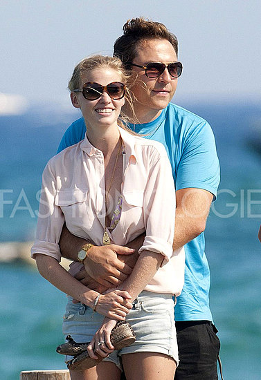 Lara Stone, Husband David Walliams Vacation in St. Tropez [Pictures]