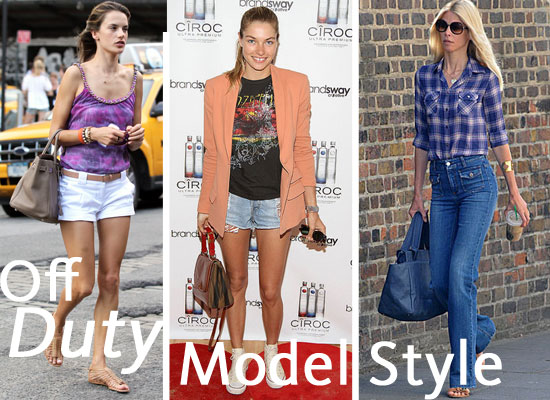 Pictures Of the Top Ten Best Dressed Models Off Duty: Kate Moss, Alessandra Ambrosio, Rosie Huntington-Whiteley and more!