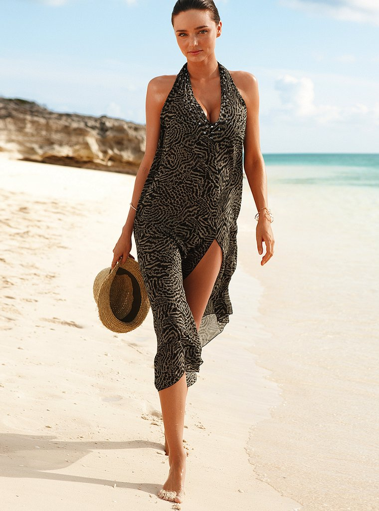 Miranda Kerr on the beach for Victoria's Secret.