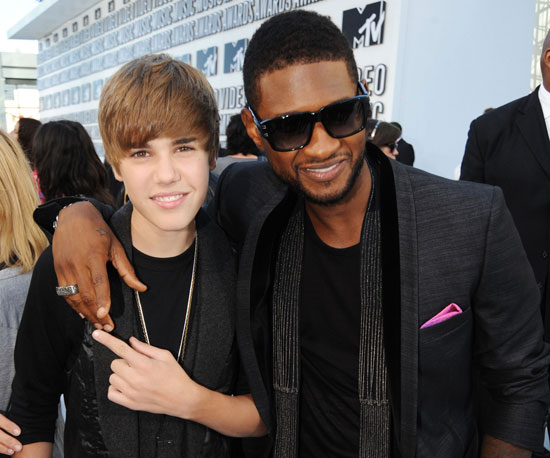 Usher and Justin Bieber got together on the red carpet in 2010.
