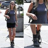 Nicky Hilton Miniskirt Street Style