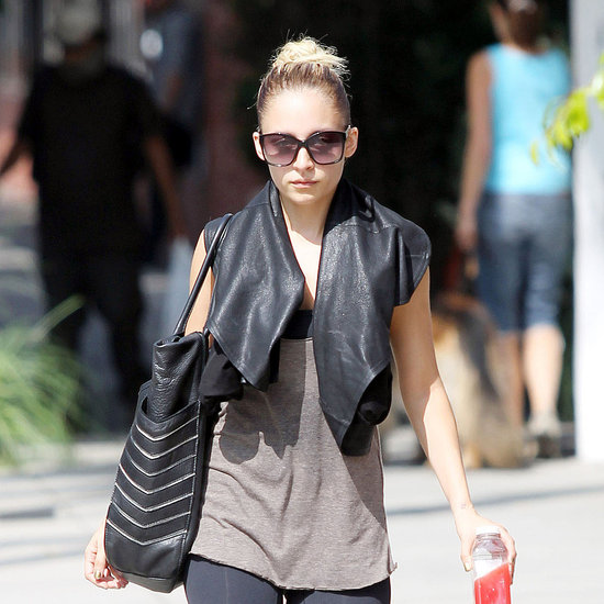 Shop Nicole Richie's Gym Look With Leather and Phoenix Bag
