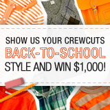 Show Us Your Crewcuts Back-to-School Style and Win $1,000 to J.Crew!