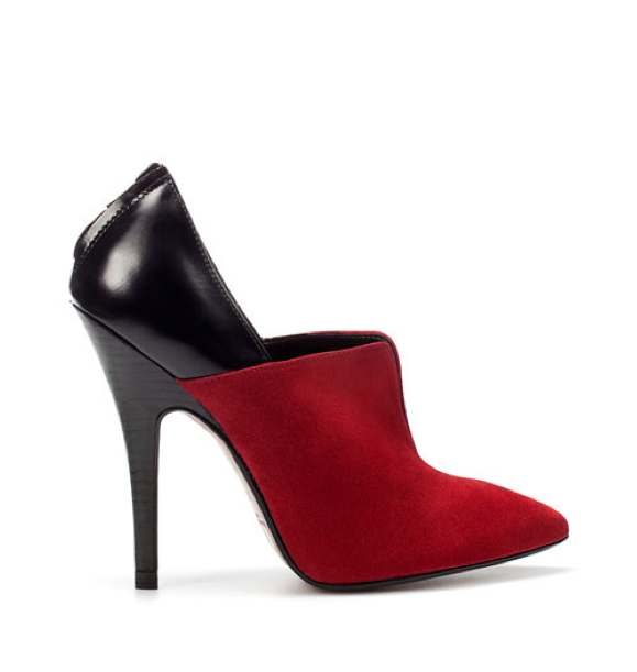 These dual-toned booties gives off an ultraluxe vibe — without the hefty price tag. Zara Two Tone Pointed Ankle Boot ($100)