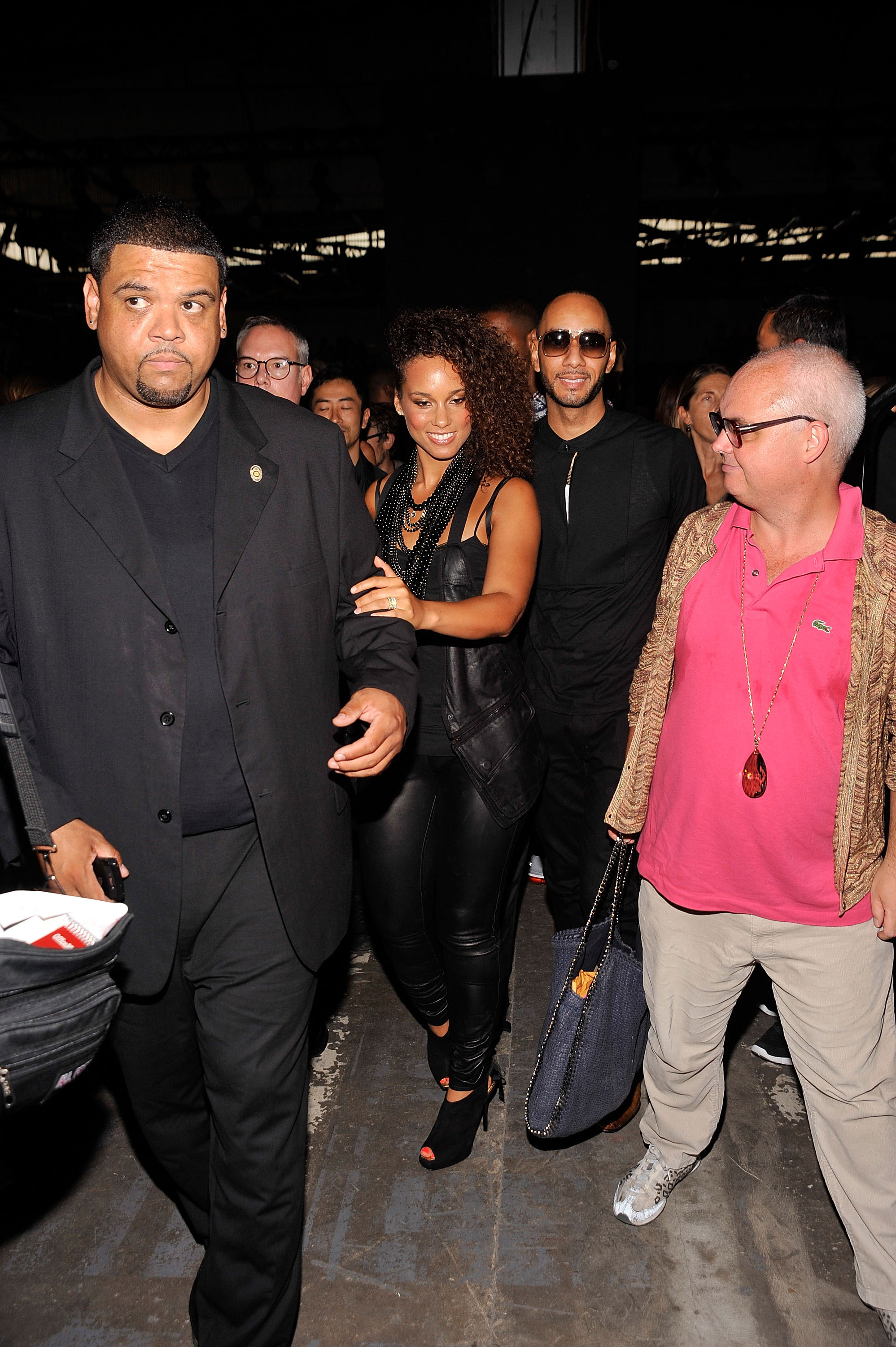 Alicia Keys and Swizz Beatz during Fashion Week.