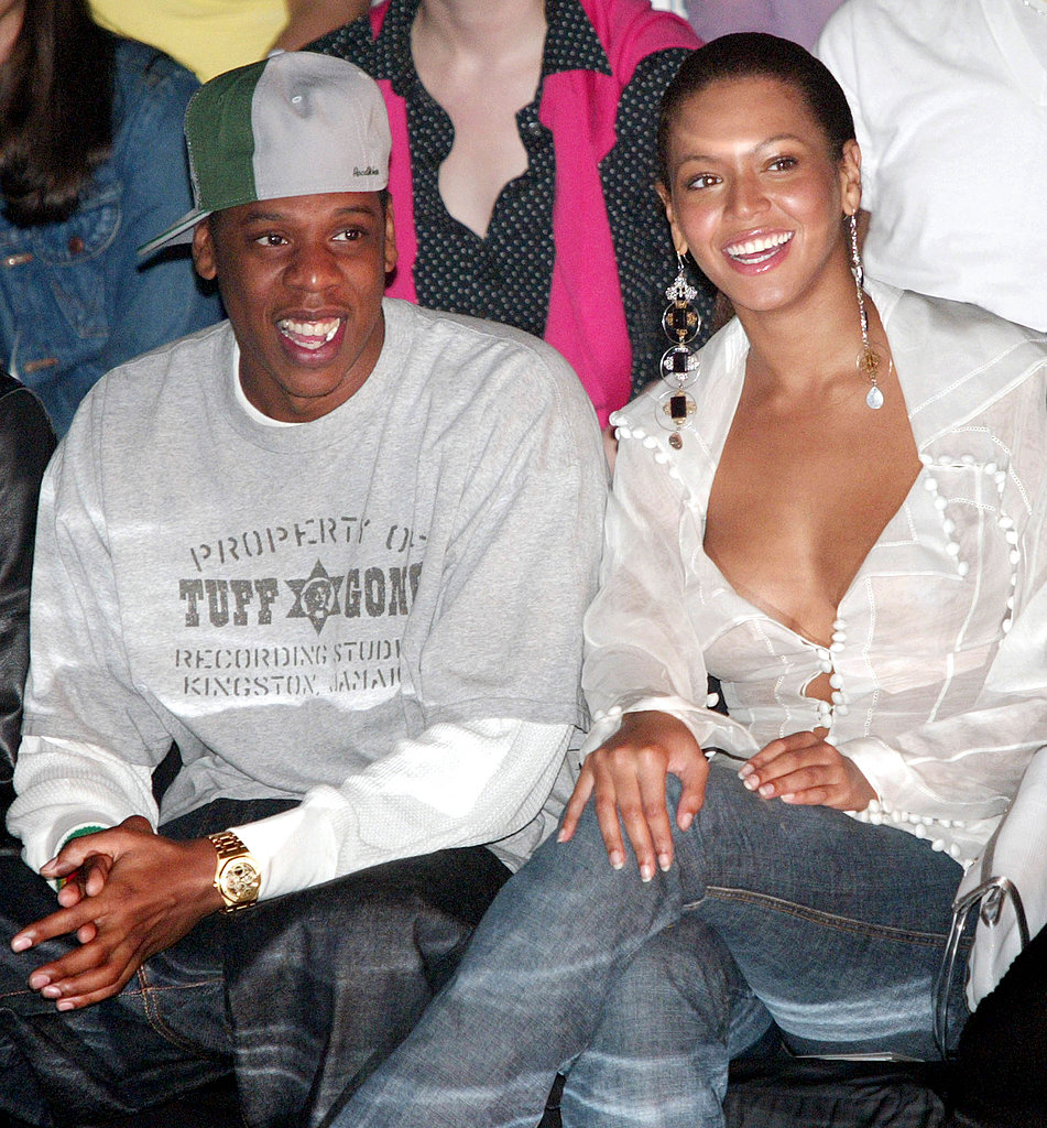 Beyoncé Knowles and Jay-Z checked out the Rosa Cha collection in February 2003.