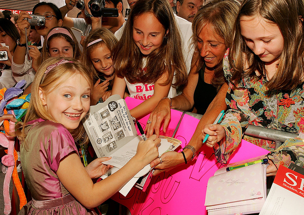 Dakota Fanning was swarmed by young fans at the 2005 premiere of Dreamer: Inspired by a True Story.