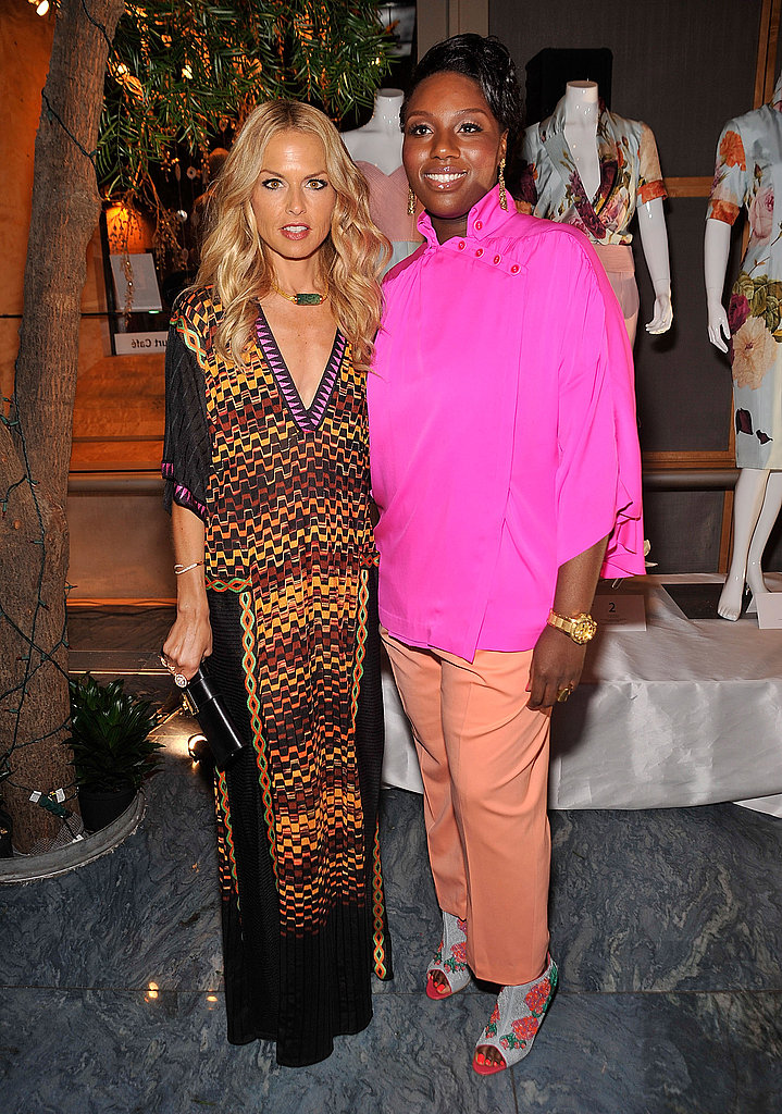 Rachel Zoe and Mimi Plange at New York Fashion Week.