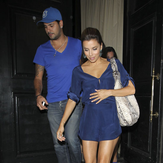 Eva Longoria and Eduardo Cruz Leaving Beso (Pictures)