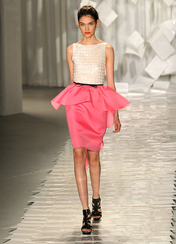 Jason Wu's pink peplum skirt and ivory top was perfect in every way.