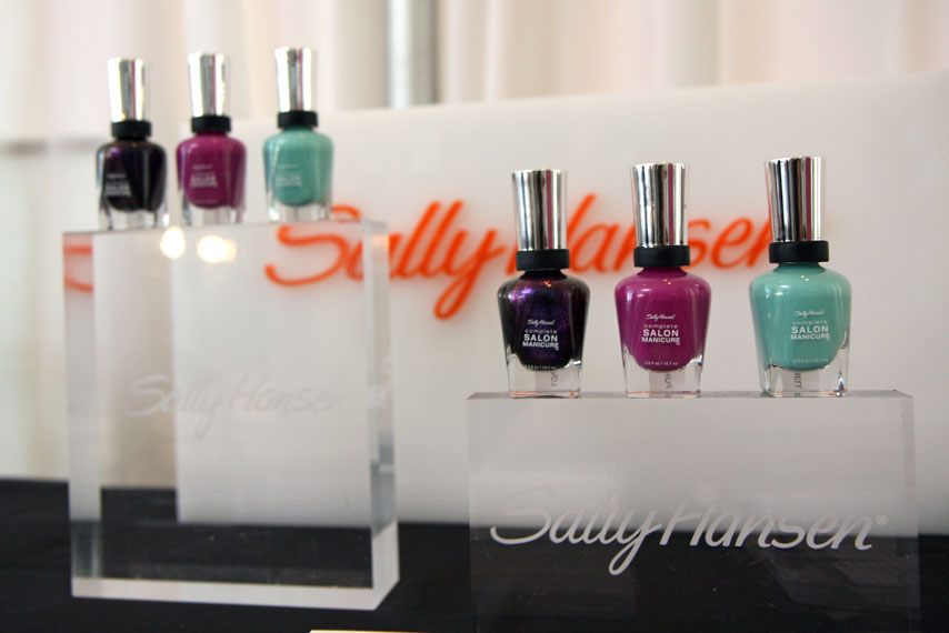 Continuing his past partnership with Sally Hansen, Prabal Gurung created three more nail polishes for the brand. These colors (Loves-Me-Not, Purple Posy, and Barely Bluebell) will launch in April 2012.