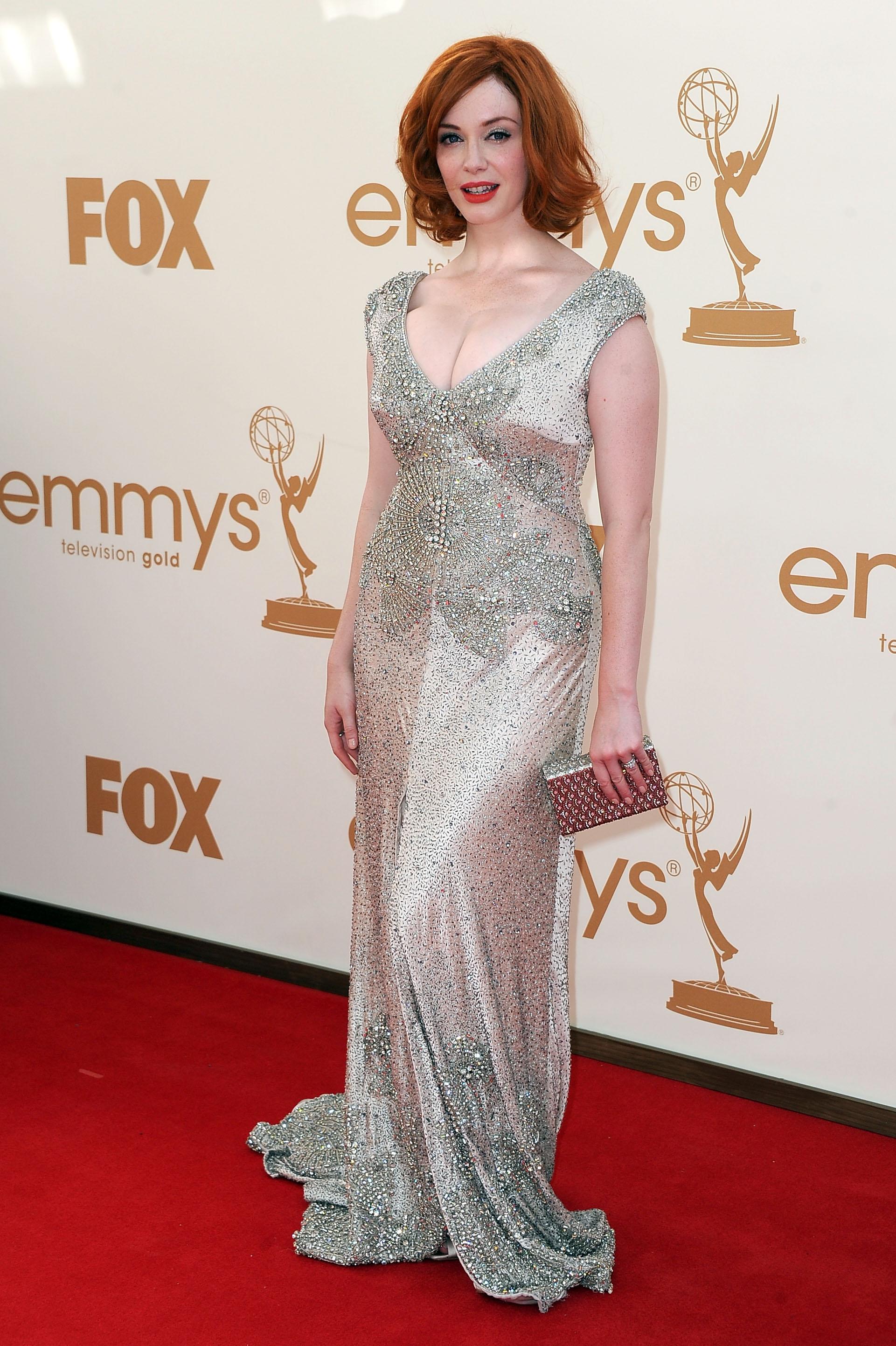 Christina Hendricks at the 2011 Emmys.