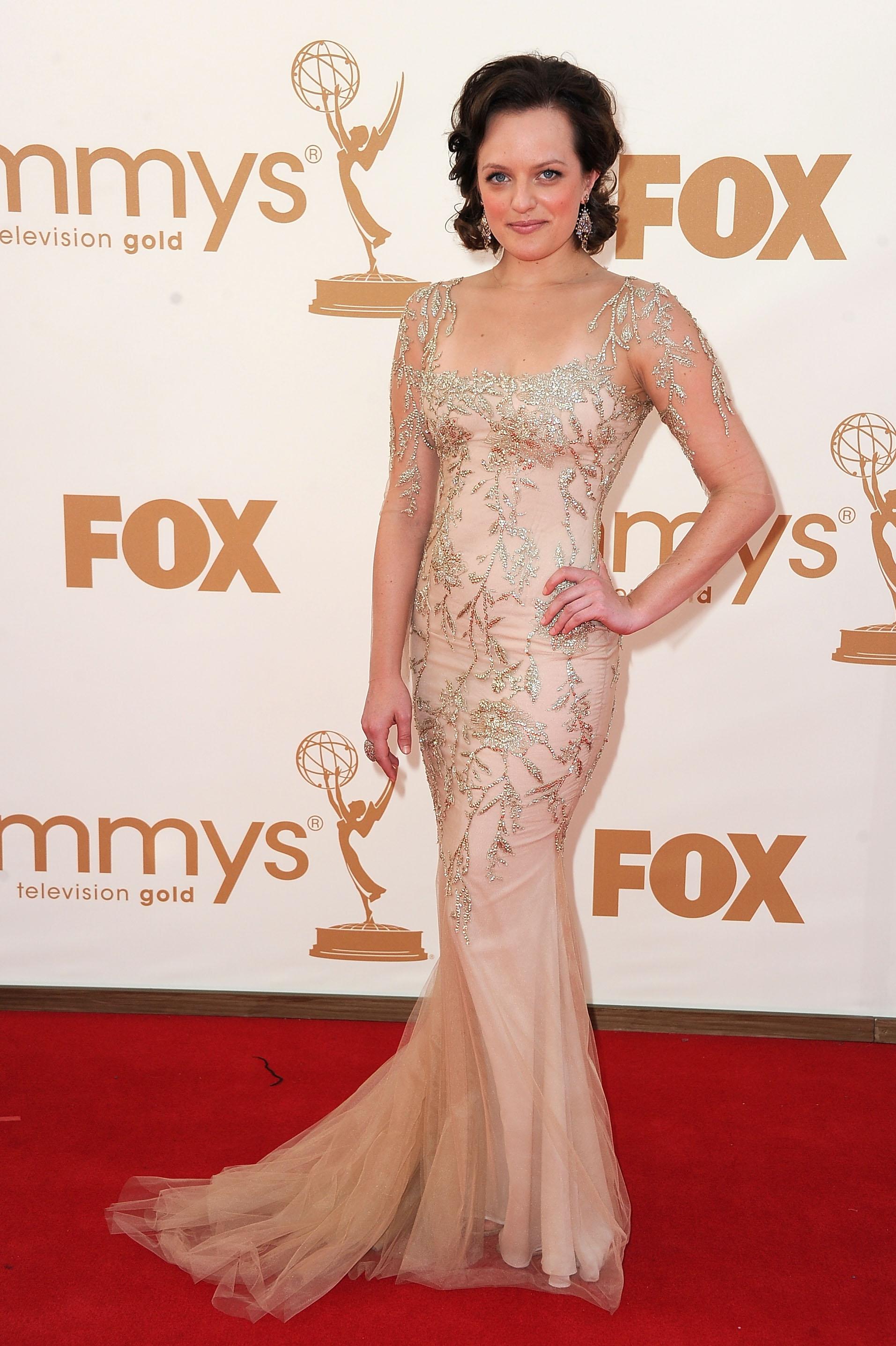 Elisabeth Moss at the Emmys.