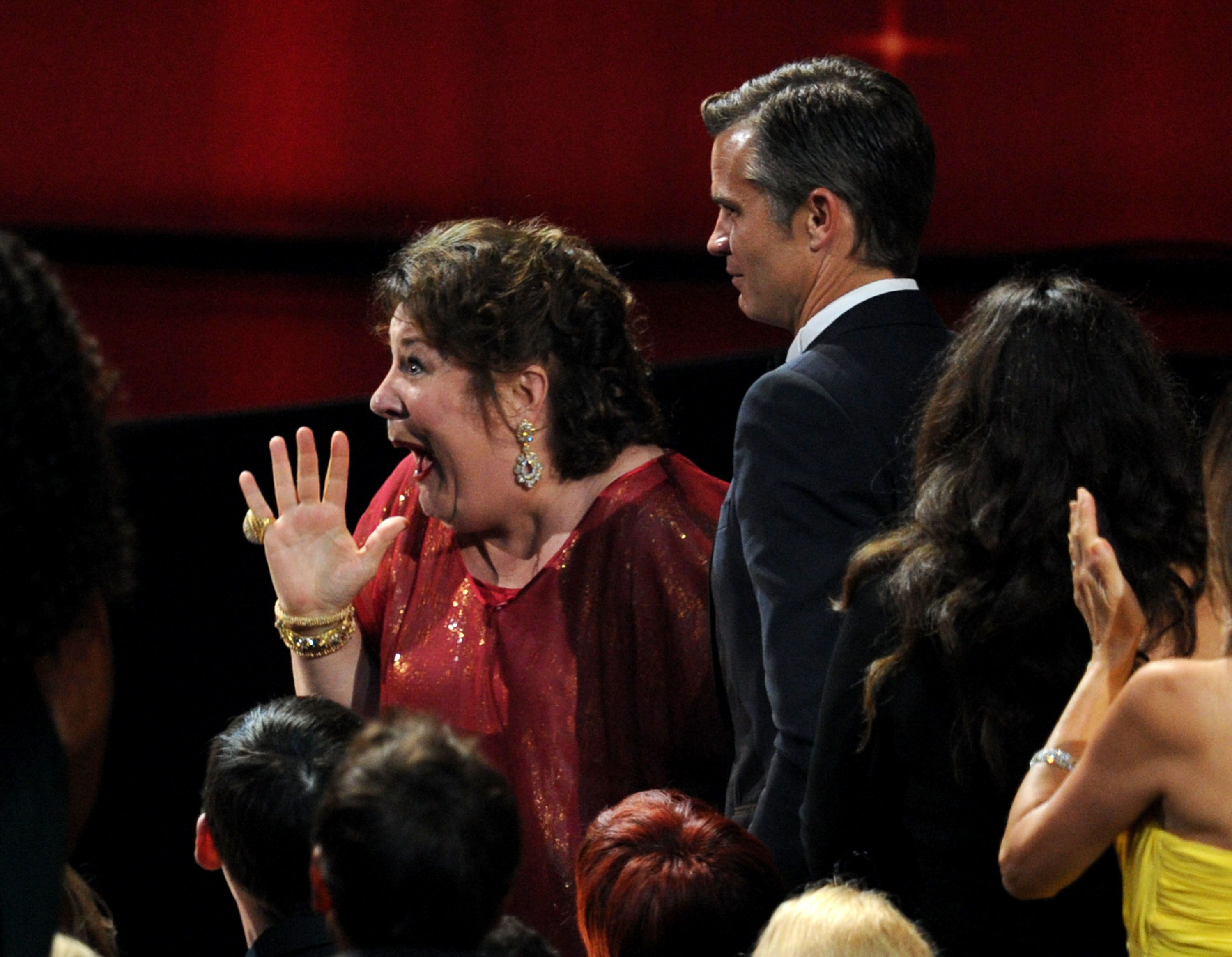 Margo Martindale made her way to accept her Emmy.