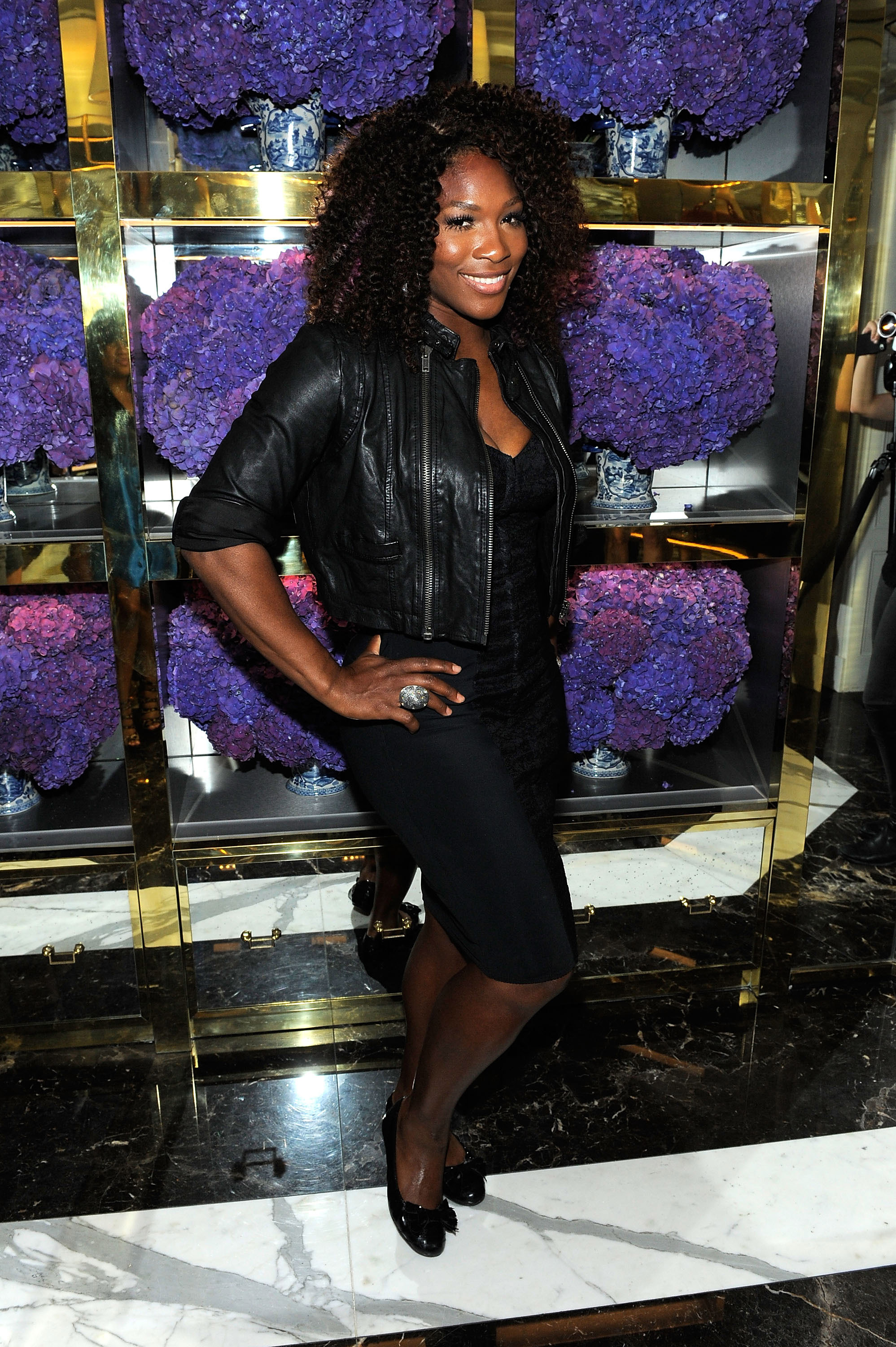 Serena Williams at Tory Burch store.