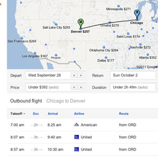 Google Flight Search Tool
