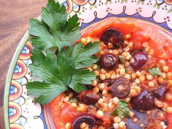 Puttanesca-Stuffed Tomatoes