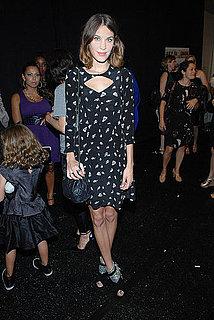 Alexa Chung at New York Fashion Week