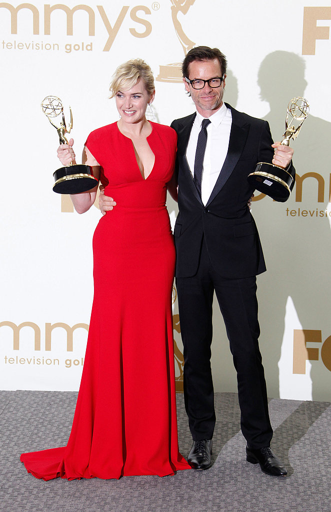 Julie and Ty Show Off Their New Gold in the Emmys Press Room With Kate, Guy, and More