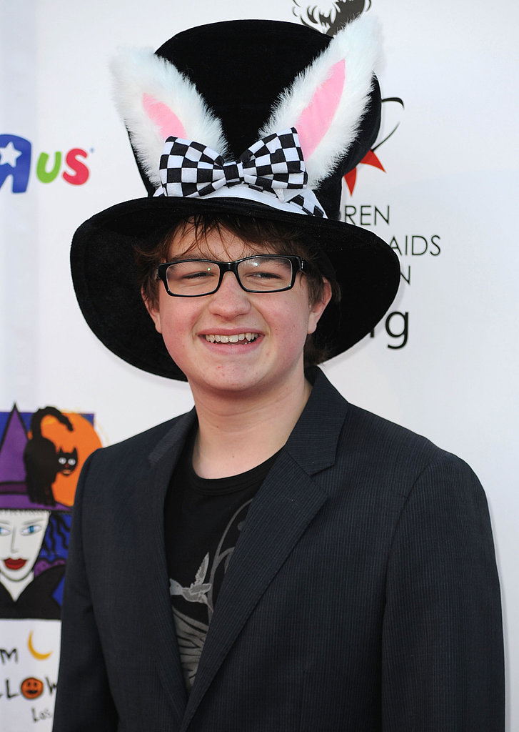 Wearing rabbit ears at the 17th annual Dream Halloween event in October 2010.