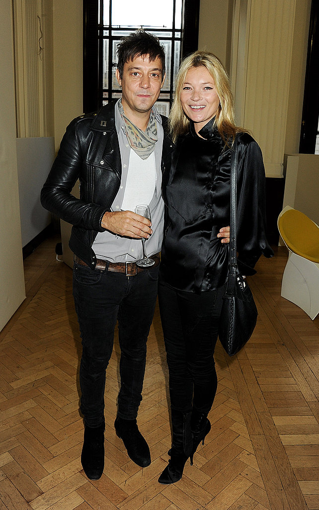 Kate Moss and Jamie Hince after James Small's show.