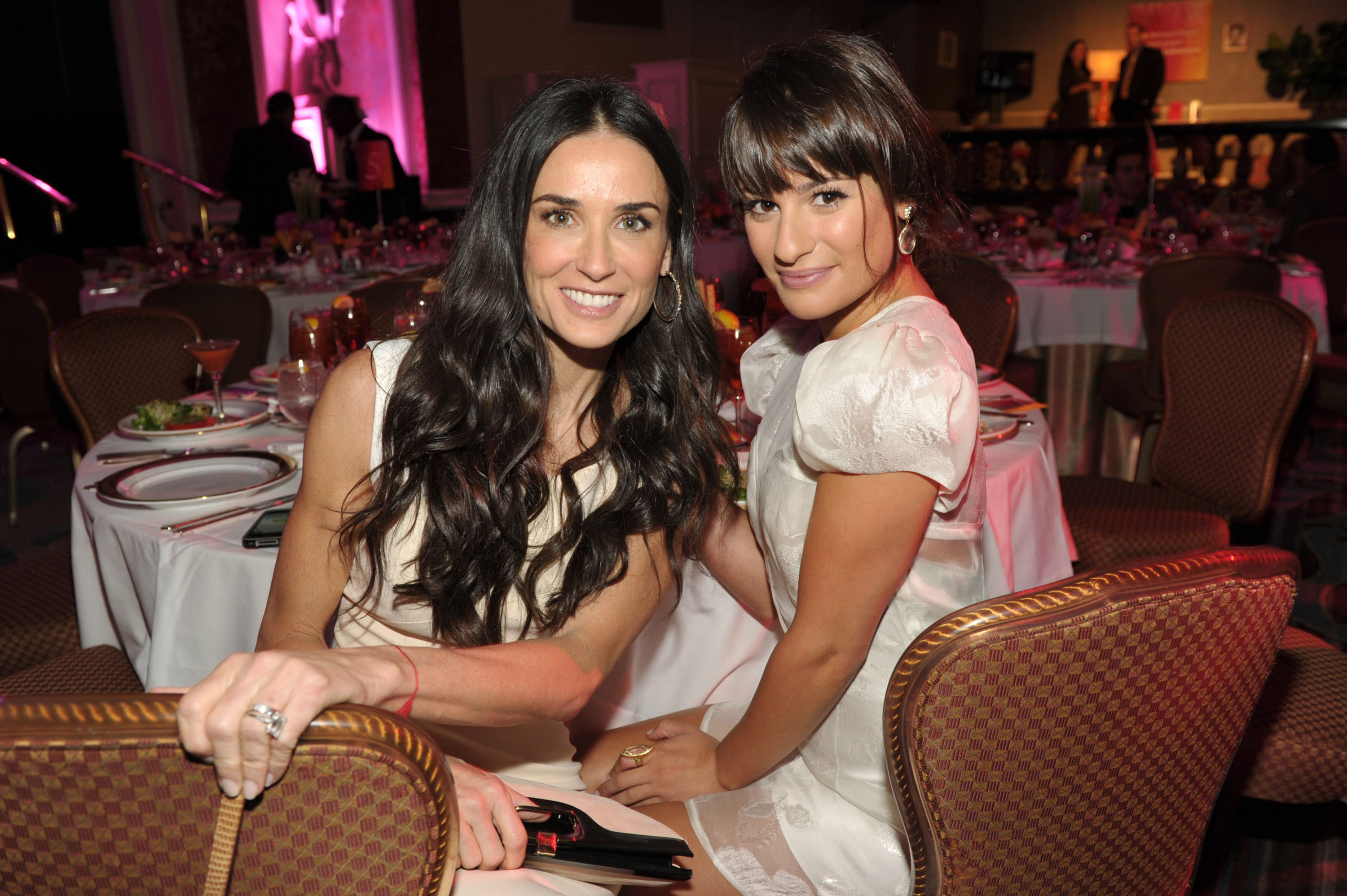 Photo of Lea Michele & her friend actress  Demi Moore - Los Angeles