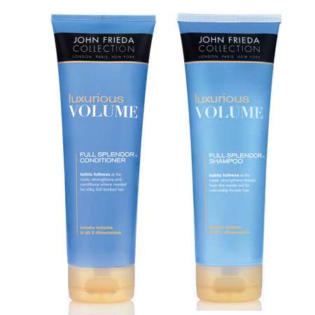 John Frieda Luxurious Volume Full Splendor Shampoo and Conditioner, $15.99 each