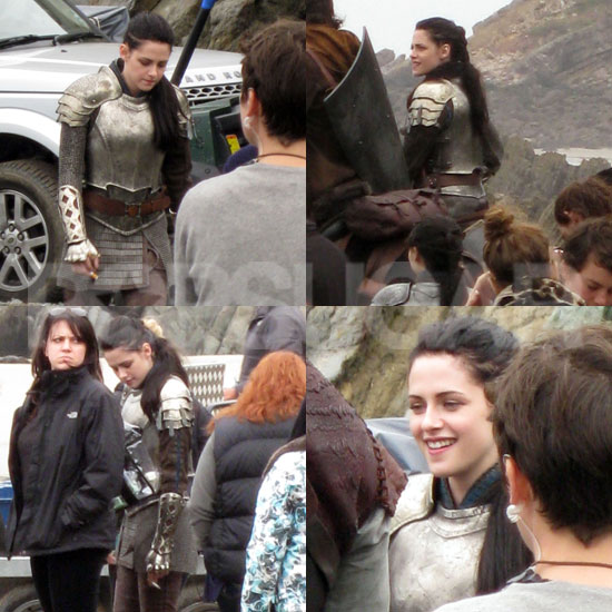 Exclusive — Kristen Stewart Dons Armor to Shoot Snow White!