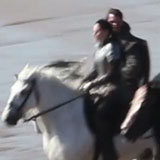 Video of Kristen Stewart in Armour Filming Snow White and the Huntsman in Wales