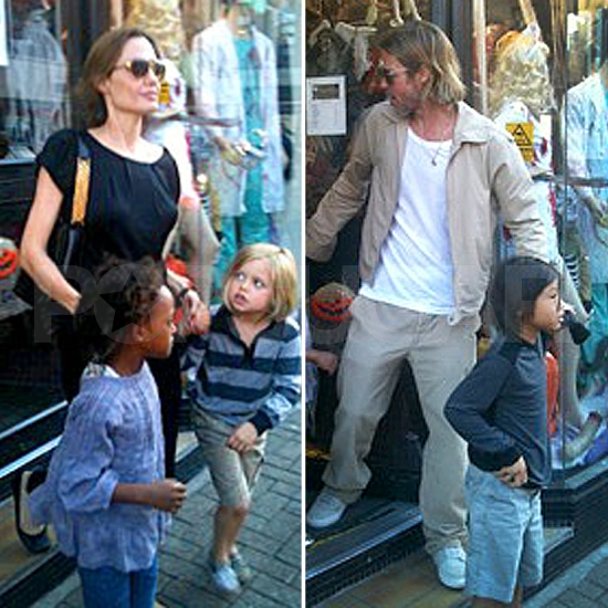 Brad and Angelina Get a Head Start on Halloween With Shiloh, Zahara, and Pax