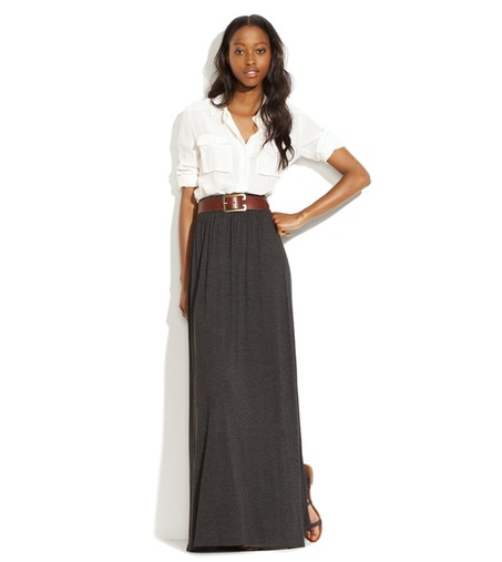 Of all the maxis out there, we zeroed in on this one for its easy fit — a piece you can take practically anywhere. Madewell Dusklight Skirt ($78)