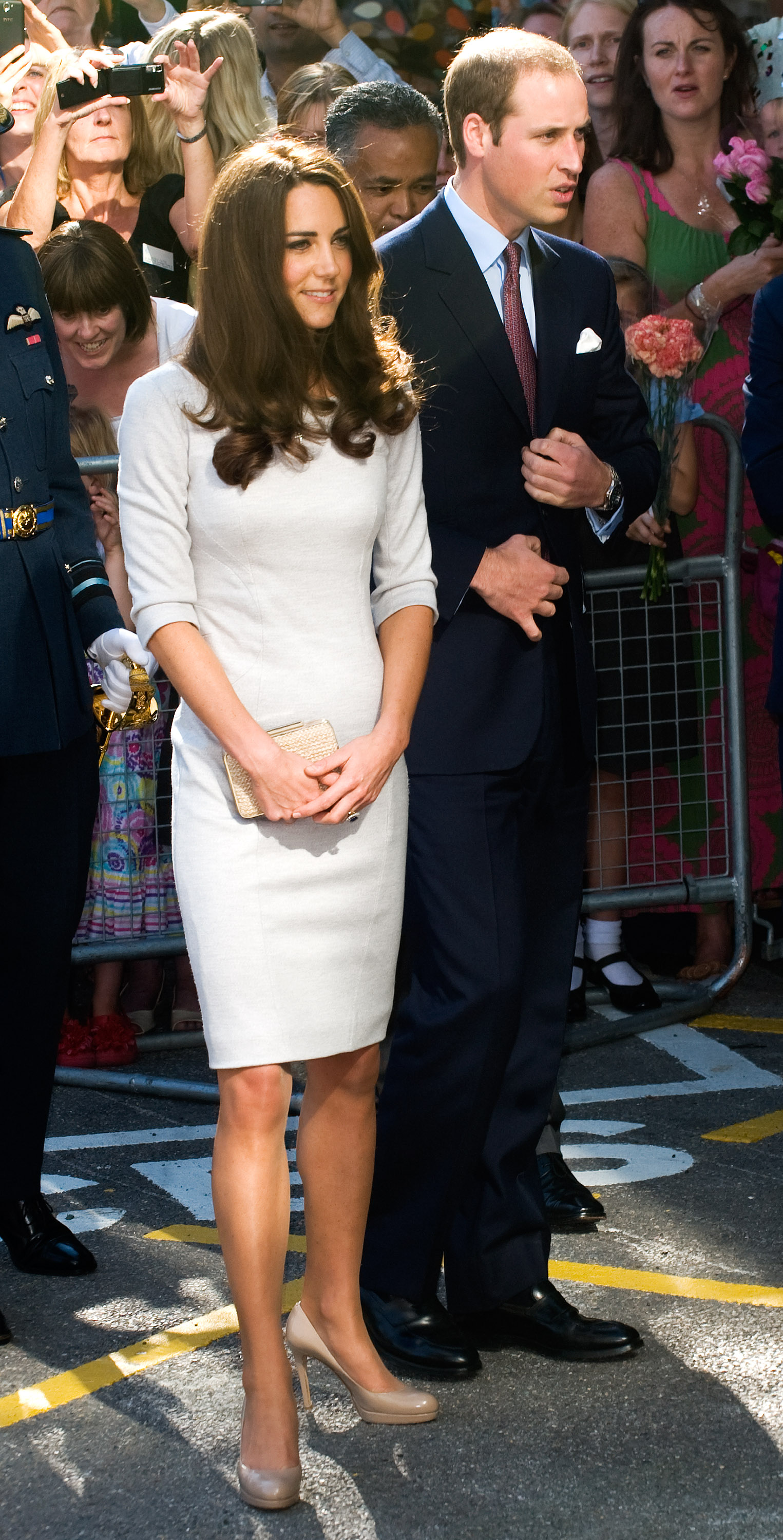 Prince William and Kate Middleton went to a hospital in London.