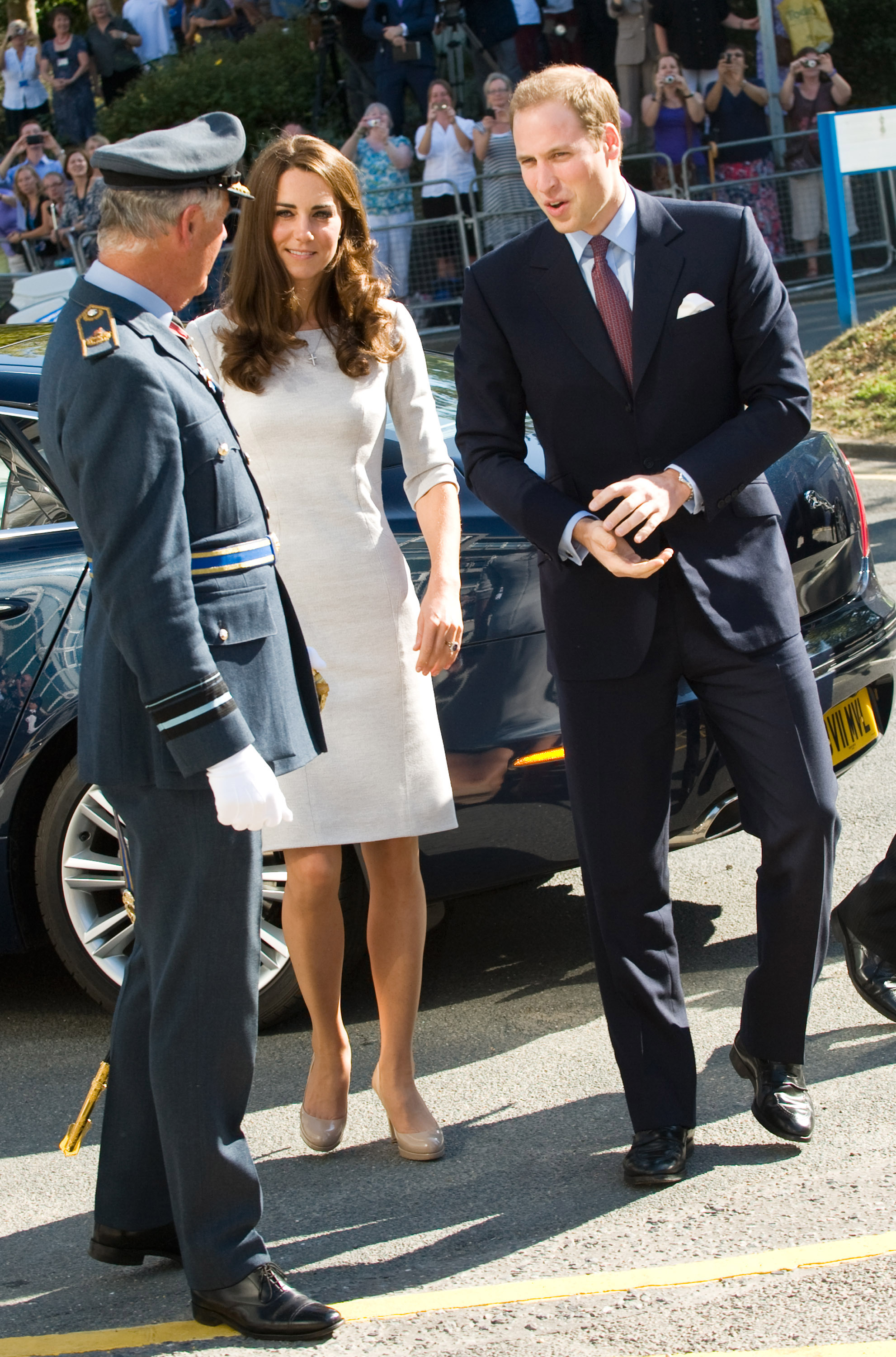 Kate Middleton and Prince William were welcomed to the Royal Marsden Hospital in London.